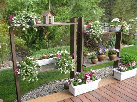 Patio Plant Shelves by Plant Shelves Backyard Garden