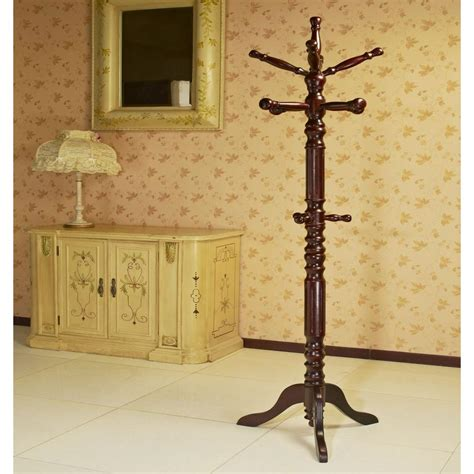 Paint Color Ideas For Bathroom megahome cherry 12 hook coat rack jw302 c the home depot