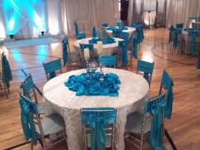 Purple Table Linens For Weddings - uweddings crystal and turquoise wedding