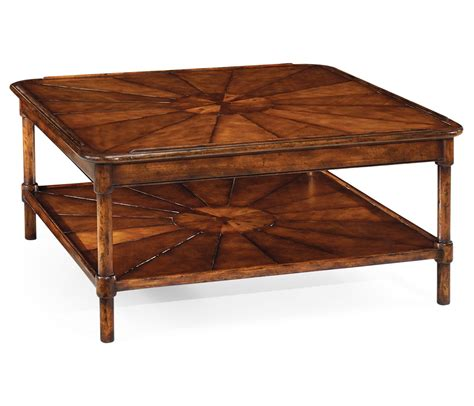 Rustic Square Coffee Table Square Rustic Walnut Coffee Table