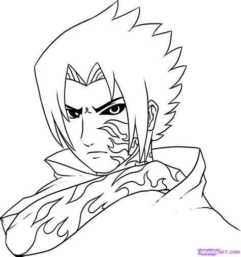 tutorial menggambar hinata how to draw curse mark sasuke step by step naruto