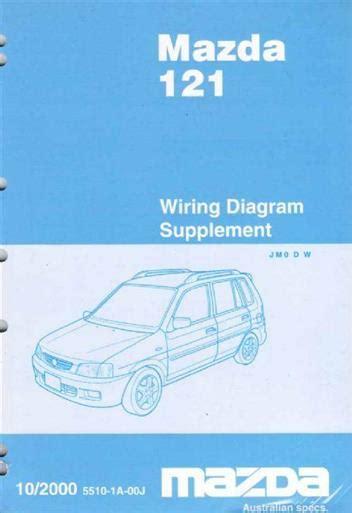 mazda 121 metro workshop manual mazda 121 dw 10 2000 factory wiring diagram manual