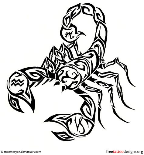 scorpio tribal tattoos 99 scorpion tattoos scorpio designs
