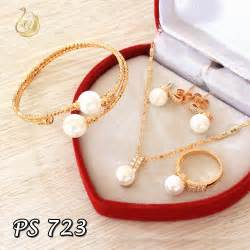 Set Perhiasan Xuping Set Chanel 65 perhiasan emas 1 set pusat perhiasan set