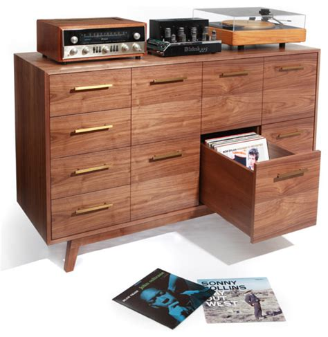 Lp Record Cabinet Furniture by Atocha Design Lp Cd Record Cabinet