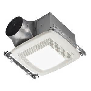 Bathroom Lights And Fans Shop Broan 0 3 Sone 110 Cfm White Bathroom Fan Energy