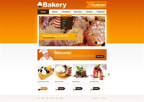 Bakery Psd Template 56440 Cookie Website Template