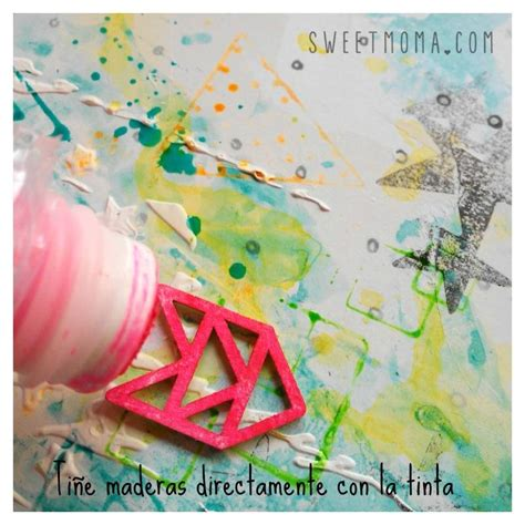 tutorial tintas scrapbooking tutorial con tintas neon sweet m 246 ma blog scrapbooking