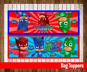 80 sale pj masks party toppers instant download printable