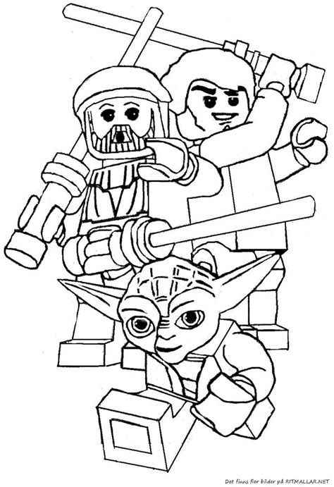 printable coloring pages lego f 228 rgl 228 gg lego wars yoda ritmallar lego coloring
