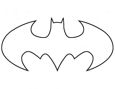 batman sign coloring page batman printable logo cliparts co