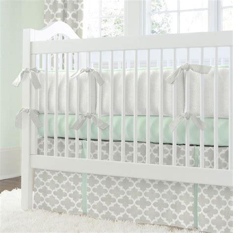 grey and mint bedding french gray and mint quatrefoil crib comforter carousel