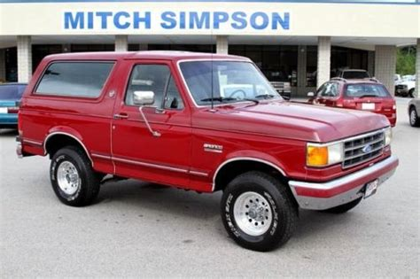 auto body repair training 1991 ford f series free book repair manuals find used 1991 ford bronco silver anniversary very nice only 98k miles no reserve in cleveland