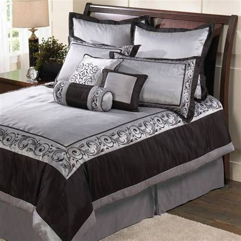 black and silver comforter sets silver black bedding for the home pinterest