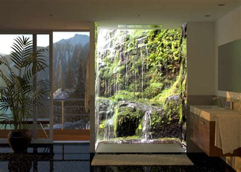 Bath Shower Ideas Small Bathrooms immersive shower murals image wrap