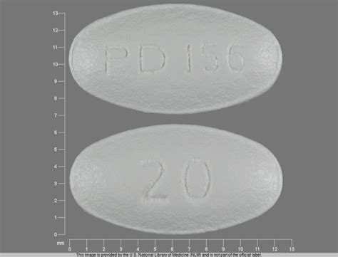 Atorvastatin Calsium 20mg pillbox national library of medicine