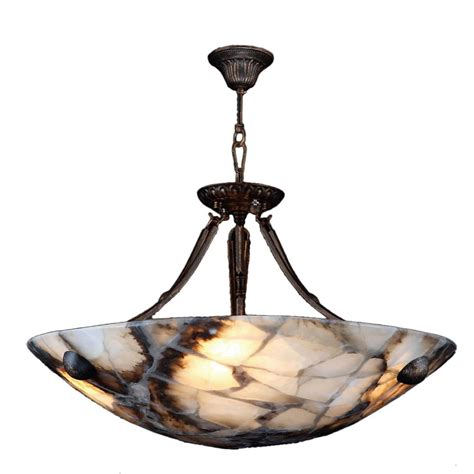 4 Light Pendant Fixture Worldwide Lighting Pompeii 4 Light Flemish Brass Quartz Small Bowl Pendant W83801f16