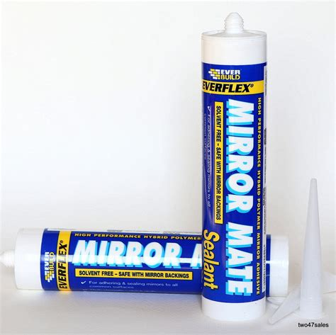 Bathroom Mirror Adhesive Mirror Adhesive Fix Silicone Fixings Glue Stick Wall Glass Bathroom Splashback Ebay