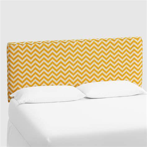 yellow zigzag loran upholstered headboard world market
