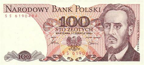 currency converter zloty 100 old polish zloty note ludwik waryński exchange yours
