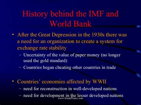 who owns the world bank imf versus world bank