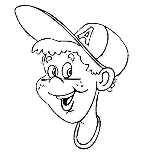 Coloring Pages For Boys Baseball Images Boy Baseball Coloring Page