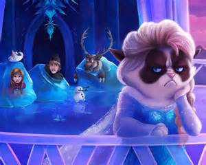 anna disney draw elsa frozen grumpy cat image