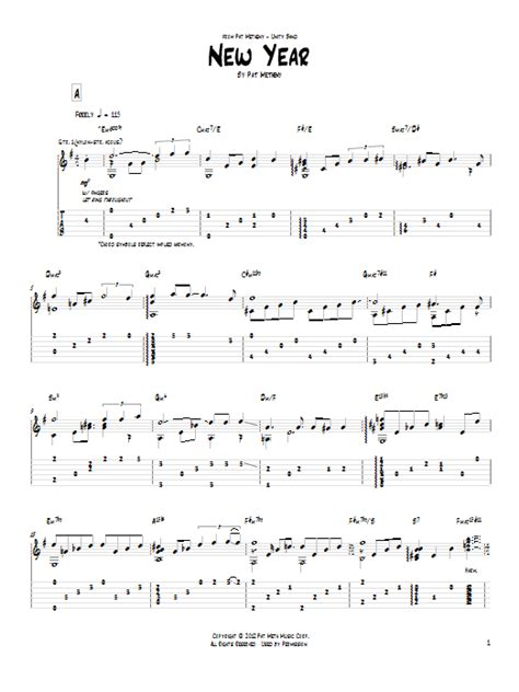 new year songs lyrics guitar chords new year by pat metheny guitar tab guitar instructor