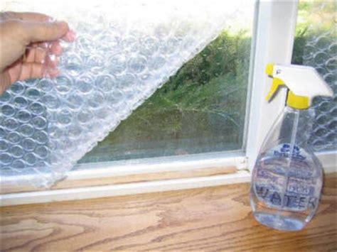 window coverings for winter bubblewrap