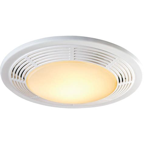Bathroom Vent Lights Decorative White 100 Cfm Ceiling Exhaust Fan With Light