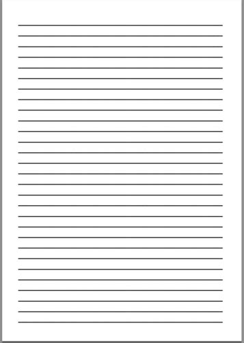 writing paper sizes printable writing paper a4 printable 360 degree