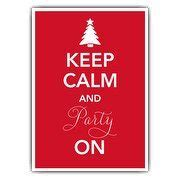Keep Calm Red Christmas Invitations   PaperStyle