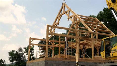 hammer beam truss raising youtube