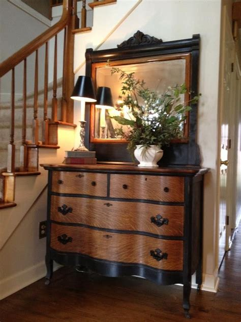 Love The Combination Of Black And Natural Wood Home Black Painted Bedroom Furniture