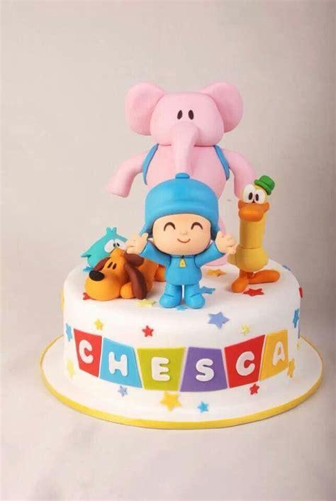 pocoyo birthday cake pocoyo cake fondant cakes birthday