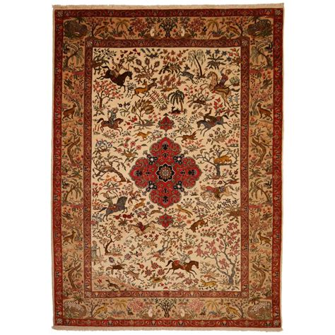 antique tabriz rug antique tabriz rug signed by master alabaf at 1stdibs