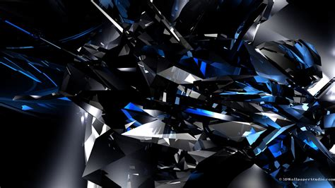3d wallpaper 1366x768 3d blue crystals wallpapers 1366x768