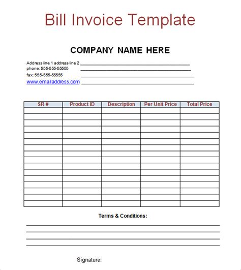 Billing Invoice Template Free by Billing Invoice Template Word Invoice Exle