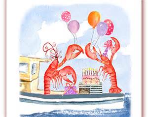 lobster birthday card etsy your place to buy and sell all things handmade