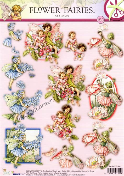 Die Cut Decoupage Sheets - chicory shirley poppy apple blossom flower 180 3d