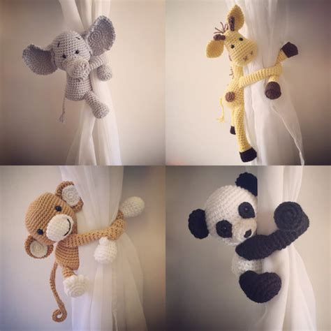Curtain Tie Back Nursery Monkey Giraffe Panda By Niceandcosee Curtain Tie Backs For Nursery