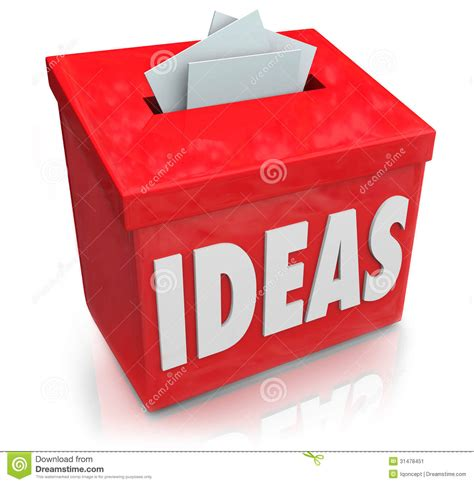 box ideas ideas creative innovation suggestion box collecting thoughts ide stock illustration image