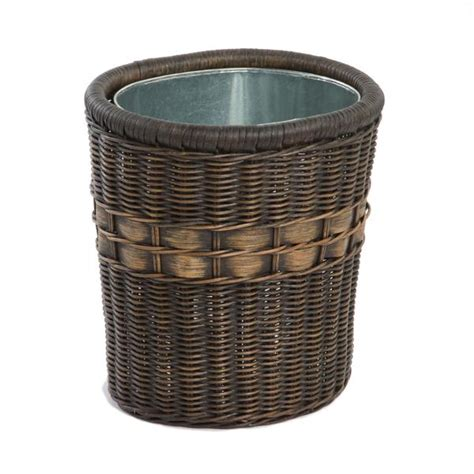 waste basket oval wicker waste basket the basket lady