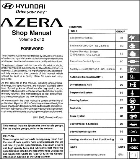 service manual pdf 2007 hyundai azera transmission service repair manuals 2007 hyundai