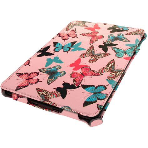 cat design kindle cover floral butterfly design pu leather case for amazon kindle
