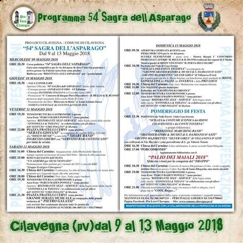 sagra pavia sagra dell asparago a cilavegna date 2018 pv