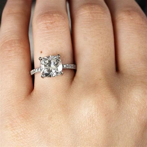 cushion cut engagement rings no halo raymond jewelers
