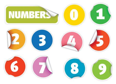 number stickers digital vectors number stickers free vector site