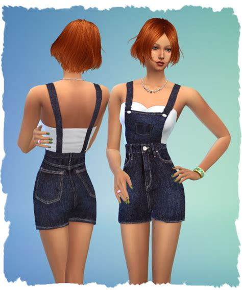 sims 4 overall shorts denim overalls by chalipo at all 4 sims 187 sims 4 updates