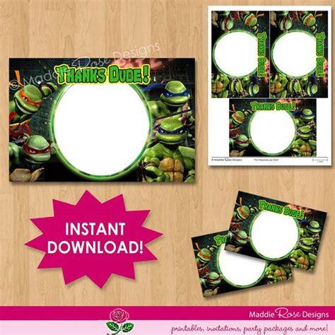 free printable ninja turtle thank you cards teenage mutant ninja turtles thank you note card instant